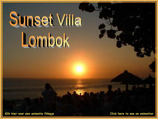 Sunset on Lombok Indonesia